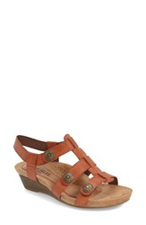 Women's Cobb Hill 'Harper' Wedge Sandal Spice Leather