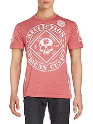 Affliction Feeling Lucky Graphic Tee Red