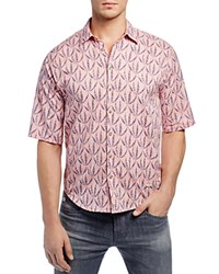 Scotch And Soda Spark Check Slim Fit Button Down Shirt Pink