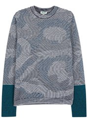 Kenzo Psychedelic Camouflage Wool Jumper Blue