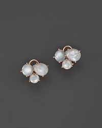 Ippolita Rock Candy Sterling Silver Cluster Stud Earrings White