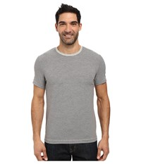 Kenneth Cole Stripe Cotton Tech Tee Heather Grey Men's T Shirt Gray