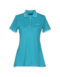 Roy Rogers Roy Roger's Topwear Polo Shirts Women Turquoise