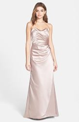 Dessy Collection Strapless Matte Satin Trumpet Dress Topaz