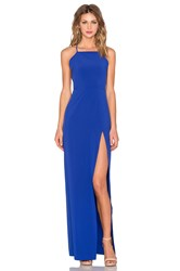 Donna Mizani Square Neck Gown Blue