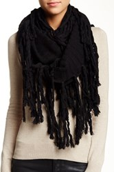 Bickley Mitchell Wool Blend Infinity Scarf Black