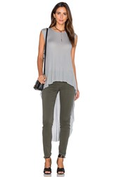 Sen Stasha Side Slit Tank Grey
