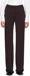 Burberry Brown Sport Stripe Trousers