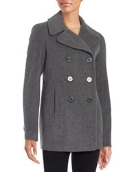 Calvin Klein Wool Blend Peacoat Light Grey