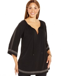 Michael Michael Kors Plus Size Long Sleeve Studded Tunic