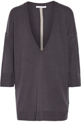 Duffy Oversized Cashmere Sweater Dark Purple