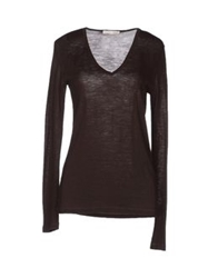 Shirt C Zero Long Sleeve Sweaters Dark Brown