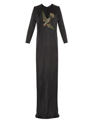 Gucci Bird Embroidery Silk Gown