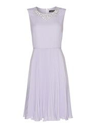 Pied A Terre Anais Pleated Dress Lilac