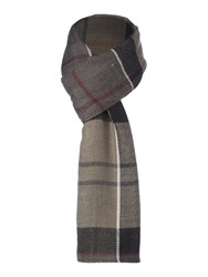 Barbour Tartan Long And Wide Wrap Grey