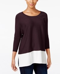Styleandco. Style Co. Batwing Two For Sweater Only At Macy's Dried Plum