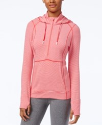 Tommy Hilfiger Half Zip Striped Hoodie Only At Macy's Red Combo