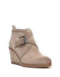 Franco Sarto Arielle Suede Wedge Booties Mushroom