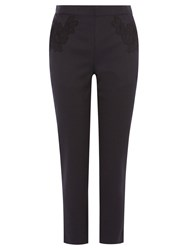 Coast Eleanor Lace Trim Trousers Black
