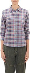 Steven Alan Plaid Shirt Blue Size S