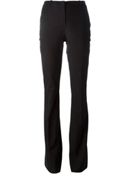 Roberto Capucci High Rise Pleated Flared Trousers Black