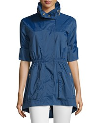 Raison D'etre Roll Sleeve Hooded Anorak Jacket Ink Navy