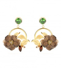 Dolce And Gabbana Embellished Clip On Earrings Gold