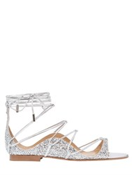 Dsquared 10Mm Glittered Lace Up Sandals