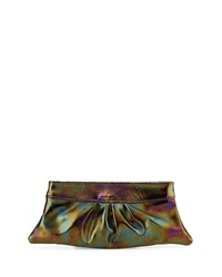 Lauren Merkin Eve Patent Clutch Bag Multicolor Iridescent