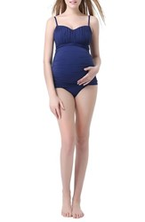 Kimi And Kai Women's 'Jessica' Maternity Two Piece Tankini Swimsuit Navy