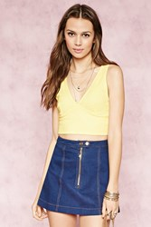 Forever 21 Plunging V Neck Crop Top