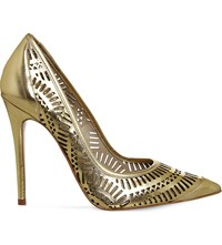 Office Nancy Laser Cut Leather Courts Gold Leather