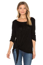 Velvet By Graham And Spencer Gwyneth Tie Front Tee Black