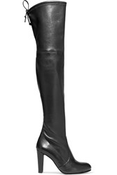 Stuart Weitzman Highland Leather Over The Knee Boots Black