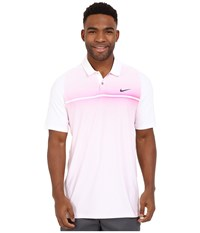 Nike Tiger Woods Velocity Hypercool Print Polo White Hyper Pink Black Reflect Black Men's Short Sleeve Pullover