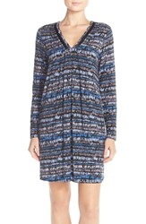 Midnight By Carole Hochman Women's Mightnight By Carole Hochman 'Tulum' Pintuck Nightgown Brush Stroke Stripe