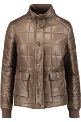 Tory Burch Quilted Shell Jacket Mushroom