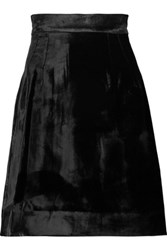 Dolce And Gabbana Velvet Mini Skirt Black