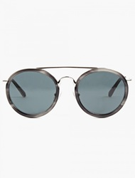 Dries Van Noten Grey Round Aviator Sunglasses