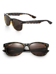Ray Ban Junior 47Mm Wayfarer Sunglasses Tortoise Black