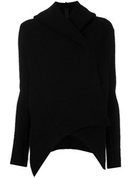 Poeme Bohemien Asymmetric Hooded Jacket Black