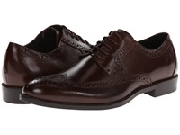Stacy Adams Garrison Brown Leather Men's Lace Up Wing Tip Shoes