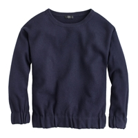 J.Crew Boiled Wool Sweatshirt Dark Navy