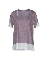 10 Crosby Derek Lam Topwear Short Sleeve T Shirts Women Purple