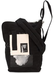Rick Owens Drkshdw Patchwork Bucket Shoulder Bag Black