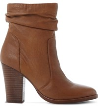 Steve Madden Hunk Slouchy Leather Boots Tan Leather