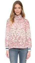 Mother Of Pearl Minnie High Neck Top Wild Fuchsia