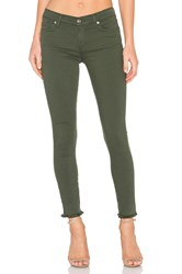7 For All Mankind The Raw Hem Ankle Skinny Olive