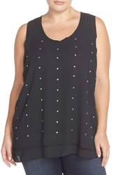 Plus Size Women's Melissa Mccarthy Seven7 Jeweled Tank