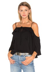 Ella Moss Stella Cold Shoulder Top Black
